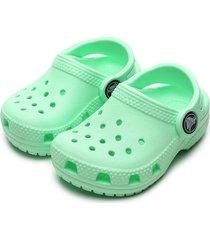 babuche crocs infantil clog verde