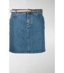 stella mccartney belted denim skirt