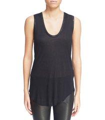 women's zadig & voltaire tam scoop neck tank, size small - black