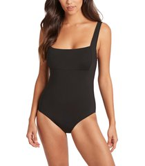 women's sea level underwire one-piece swimsuit, size 8 us - black