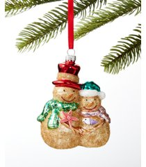 holiday lane at the beach sand snowman ornament, created for macy's