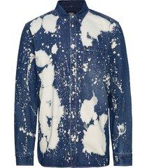 olavi denim shirt skjorta casual blå wesc
