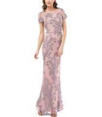 js collections short-sleeve soutache gown