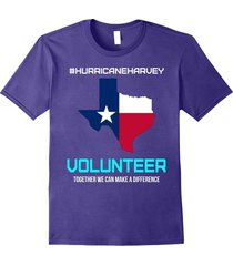 hurricane harvey volunteer t-shirt we can make a difference men