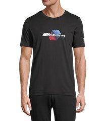 puma men's bmw m motorsport logo t-shirt - black - size s