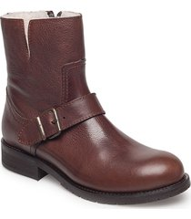 warm lining 81923 shoes boots ankle boots ankle boot - flat brun carla f