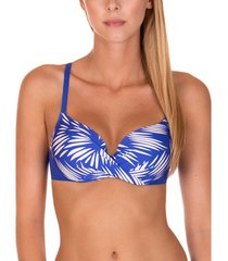 bikini lisca lagos blauwe voorgevormde zwempak top