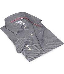 levinas men's finollo contemporary-fit dress shirt - black hound - size 16