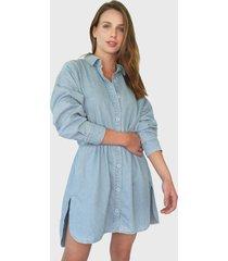 vestido missguided corto azul - calce holgado