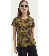 scotch & soda katoenen t-shirt met dessin