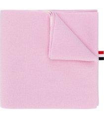thom browne 4-bar merino scarf - pink
