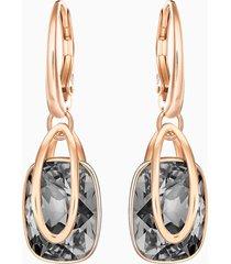 orecchini holding, nero, placcato oro rosa