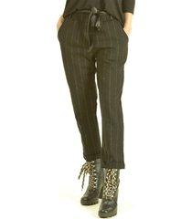 pantalón franja brillo negro