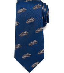 men's cufflinks, inc. 'star wars - millennium falcon' silk tie, size regular - blue
