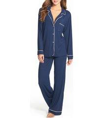 women's eberjey gisele pajamas, size medium - blue