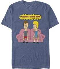 beavis and butthead mtv men's couch potatoes logo short sleeve t-shirt