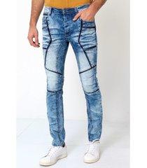skinny jeans true rise stoere biker jeans