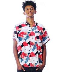 camisa elephunk floral hallerbos masculina