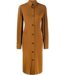 aspesi midi shirt dress - brown