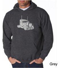 la pop art men's word art hoodie - keep on truckin