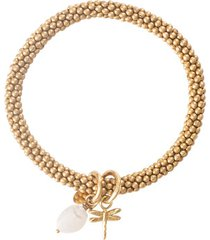 armband a beautiful story jacky moonstone dragonfly gold bracelet