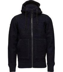 stockholm bonded hoodie trui zwart superdry