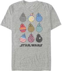 star wars men's rise of skywalker crazy bb-8's t-shirt