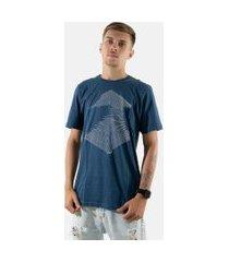 camisa t-shirt 3d rioutlet azul 234