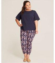 pantalon mujer capri estampado floral