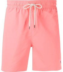 polo ralph lauren embroidered logo swim shorts - pink