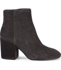 eden suede block-heel booties
