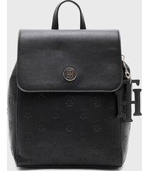 mochila int th charming backpack negro tommy hilfiger
