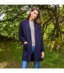 the glenevin waterfall cardigan navy l