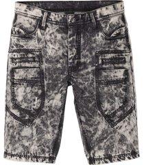bermuda di jeans loose fit (nero) - rainbow