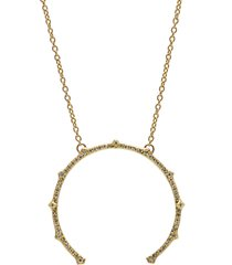 women's armenta sueno diamond crescent pendant necklace
