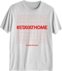 hybrid men's stay at home graphic t-shirt