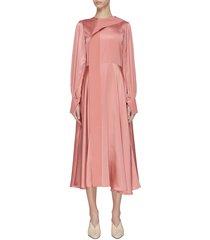 'adyn' silk flared dress