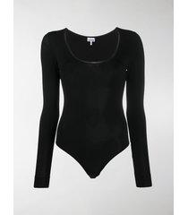 ganni scoop neck bodysuit