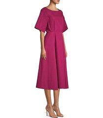 short sleeve a-line midi dress