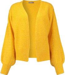 vest cardigan geel