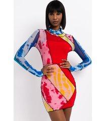 akira primary babe mesh mini dress