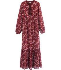 vestido largo paisley burdeos nicopoly