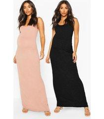 maternity 2 pack maxi dress, rose