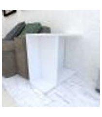 mesa lateral 25x60x50 cm mdf branco tx modelo en16601ml