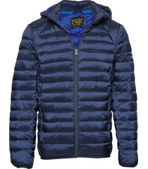 classic hooded light weight padded jacket gevoerd jack blauw scotch & soda