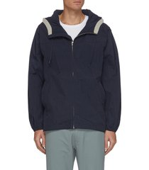 drawstring hood nylon jacket