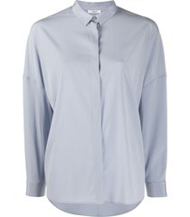 peserico relaxed long-sleeve blouse - blue