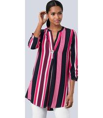 blouse alba moda marine::pink::wit