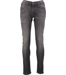 lee luke slim tapered jeans donkergrijs