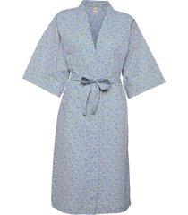 picola liberte kimono morgonrock blå becksöndergaard